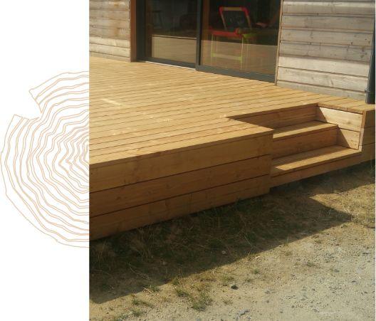 Exemple d'une terrasse sur charpente