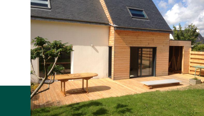 Exemple d'extension bois pour une maison