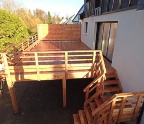 Les terrasses en bois sur pilotis