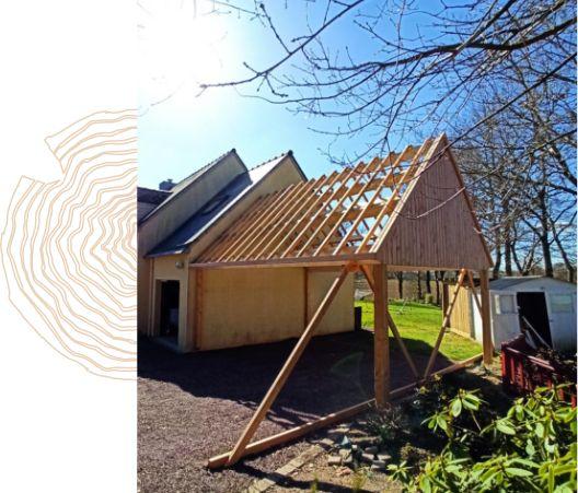 Le carport en bois, une solution économique et pratique