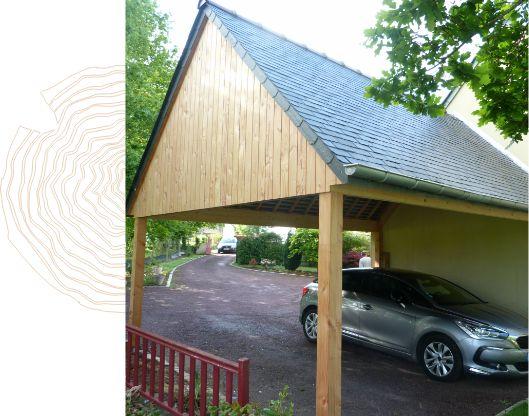 Carport double bois Pin Douglas Boisdellys