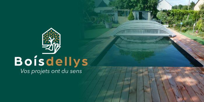 Réalisation par Boisdellys d'une terrasse avec piscine en Bois en Pin Douglas dans la commune du Verger, Ille et Vilaine